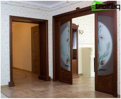 Doors entering the wall