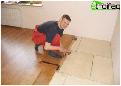 Plywood base for parquet board