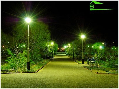 Outdoor lighting is radically different from indoor
