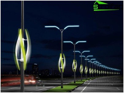 Street lights operate in difficult conditions
