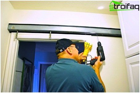 Installing the upper sliding door rails