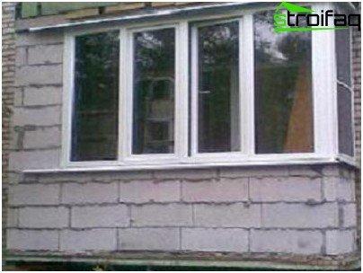 Preparing a balcony for glazing