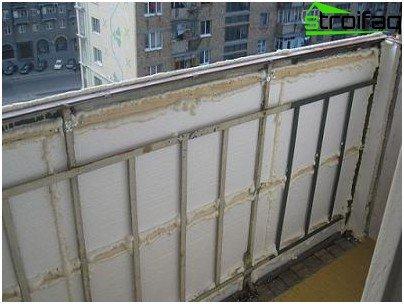 Isolering af balkonens vægge