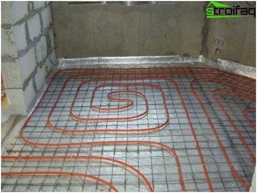 Rul vandtætning af et varmeisoleret gulv