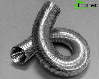 Fleksibel aluminiumsfolie metal kanal