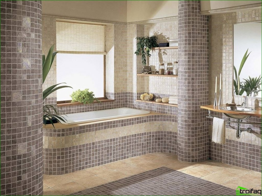 The choice of interior and design style for the bathroom