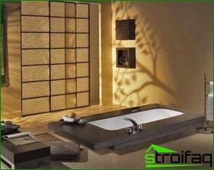 Oriental-style bathroom: basic design features