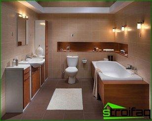 Diseño de una bañera combinada con un inodoro.