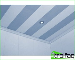 Finishing the bathroom ceiling with pvc panels