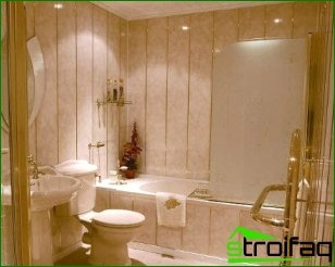 Finishing a bathroom with PVC panels and comparing them with ceramic tiles
