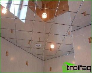سقف المرآة في الحمام بيديك