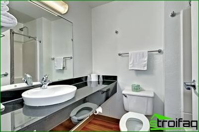We create a bathroom design for a business person
