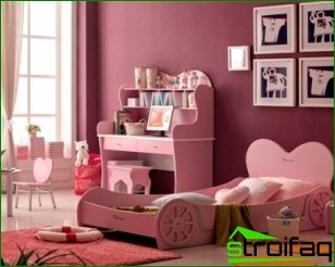 Nursery interior for a girl with unusual design elements