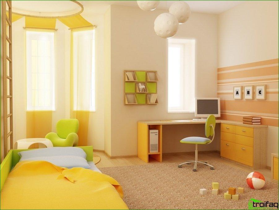 Diseño interior de habitación de bebé