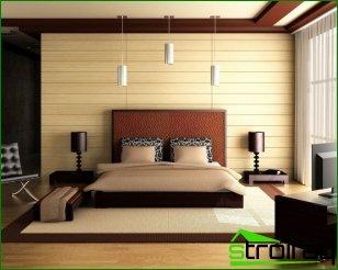 Beds in the bedroom interior