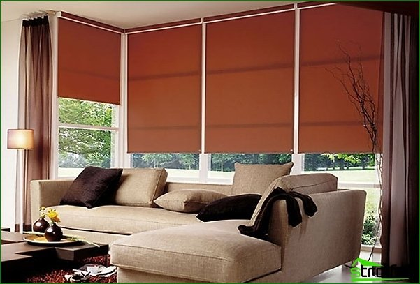 Roller blinds: convenient, practical, aesthetically pleasing
