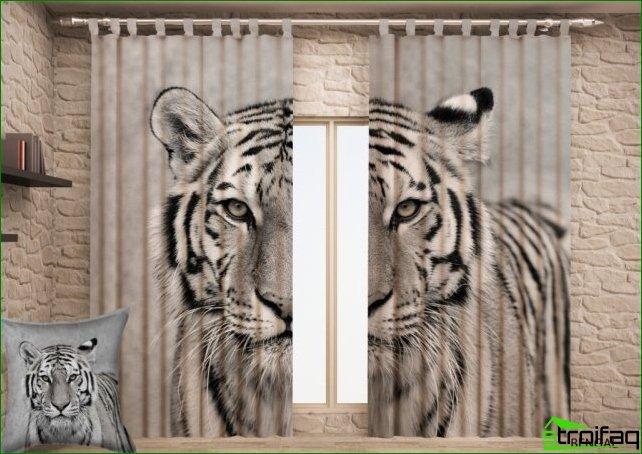 Características de la elección de cortinas con impresión fotográfica.