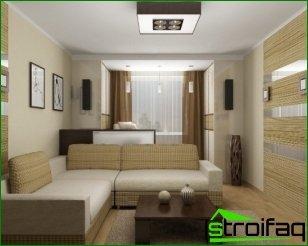 Distinguimos el interior de un apartamento de una habitación