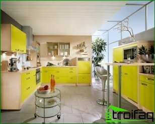 How to choose the design of the kitchen