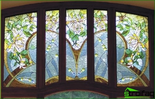 Art stained-glass windows