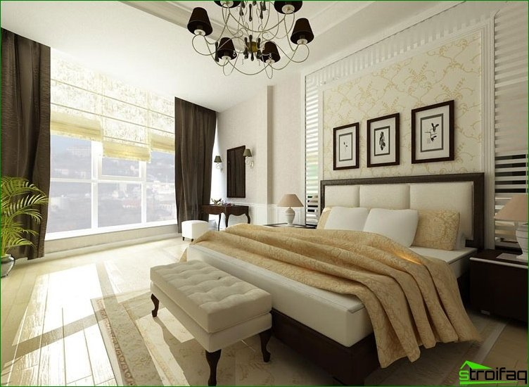 We make a bedroom in a classic style