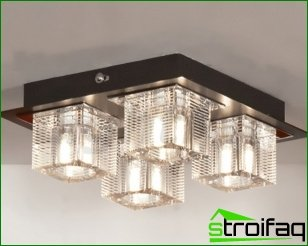 Ceiling lights: types and their features