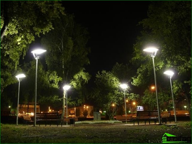 Varieties of park lights
