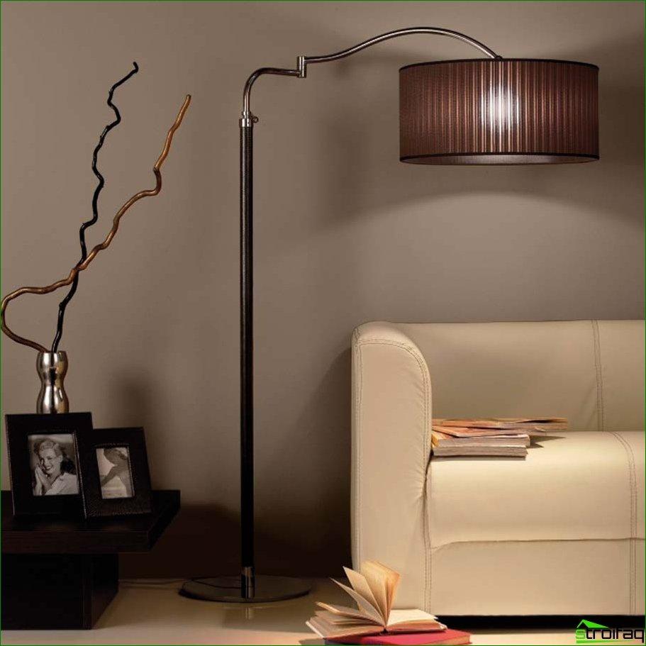 Elegimos lámparas de pie de cualquier diseño y propósito.