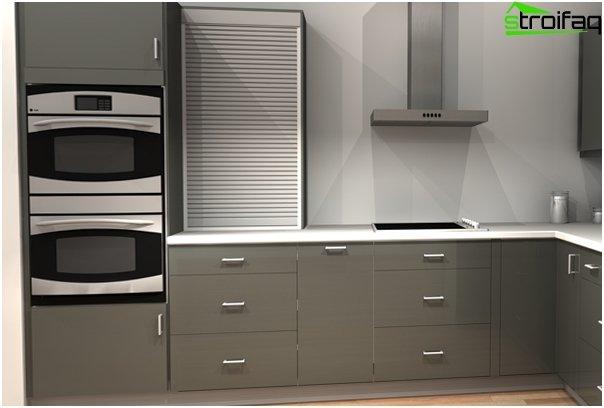 Kaapit Ikea - 3: n sisäänrakennettuihin laitteisiin