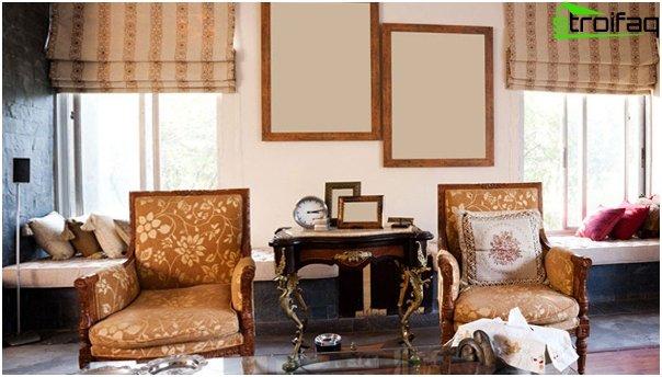 Römische Vorhänge für das Wohnzimmer - 1