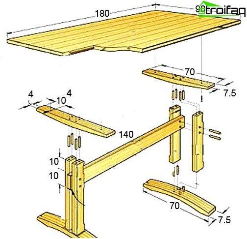Spisebordstegning - 4