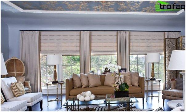 Römische Vorhänge für das Wohnzimmer - 2