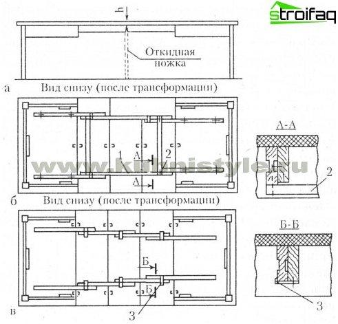 Spisebordstegning - 5