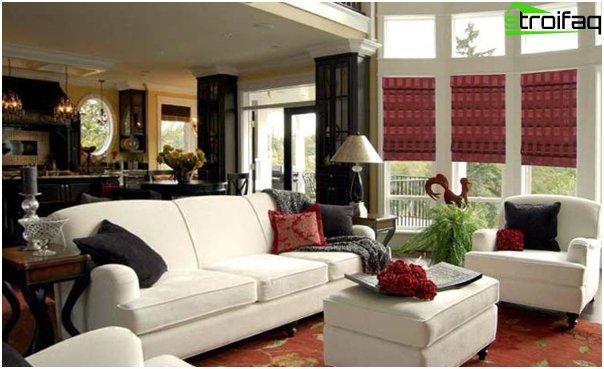 Römische Vorhänge für das Wohnzimmer - 4