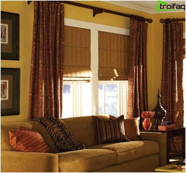 Foto von römischen Vorhängen im Wohnzimmer -1