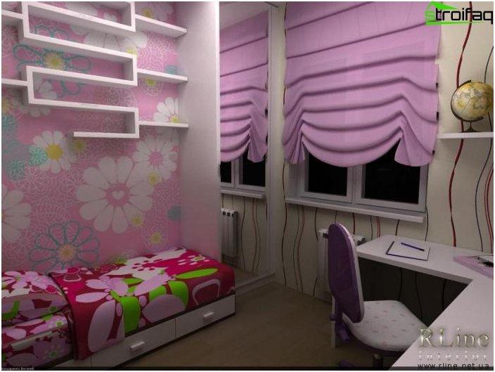 Römische Vorhänge im Kinderzimmer - 1
