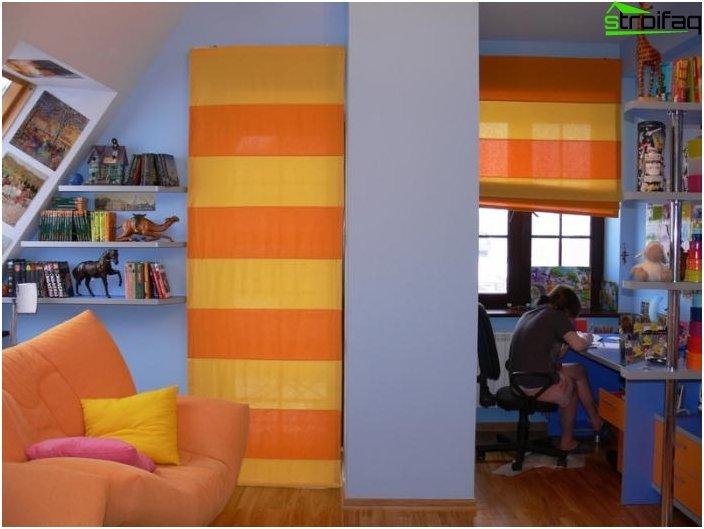 Römische Vorhänge im Kinderzimmer - 2