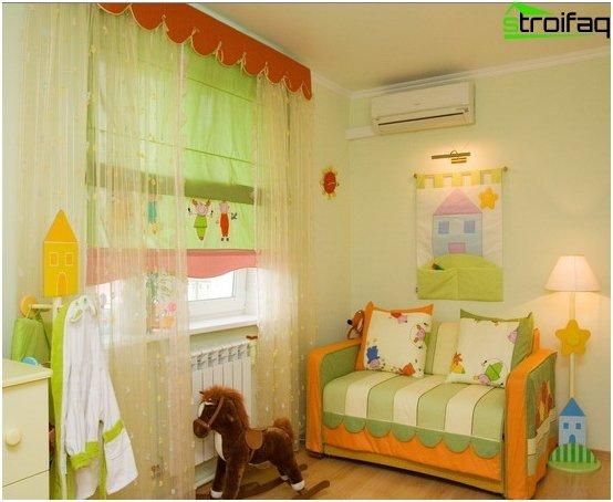 Römische Vorhänge im Kinderzimmer - 4