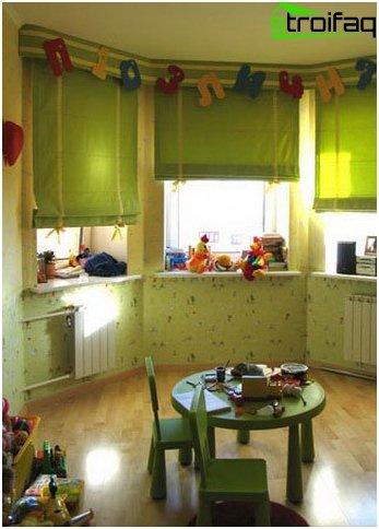 Römische Vorhänge im Kinderzimmer - 5