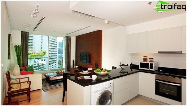 مطبخ مدمج مع غرفة معيشة - 05