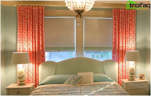 Foto von römischen Vorhängen im Schlafzimmer - 3