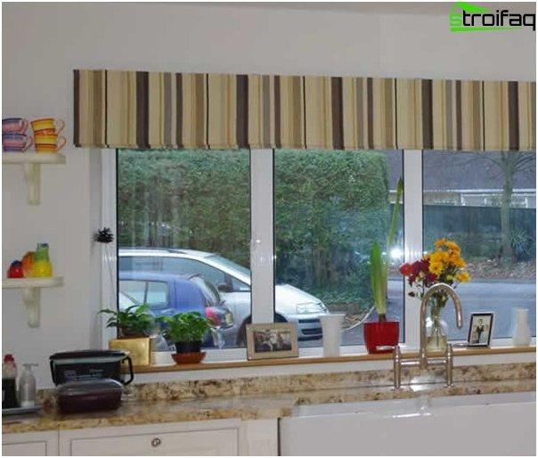 Römische Vorhänge für die Küche - 1