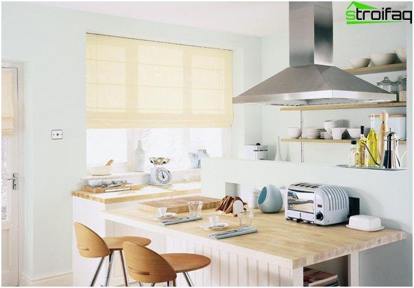 Foto von römischen Vorhängen in der Küche - 3