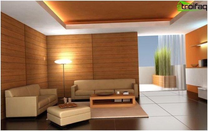 การออกแบบเพดาน (150 ภาพ)