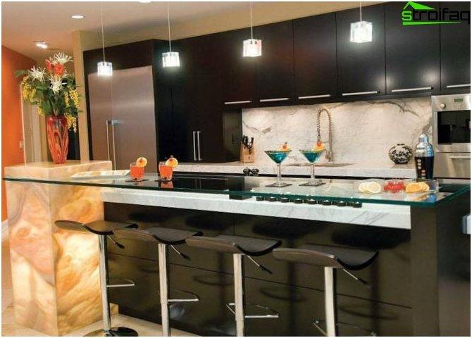 Fotografija šanka u unutrašnjosti kuhinje