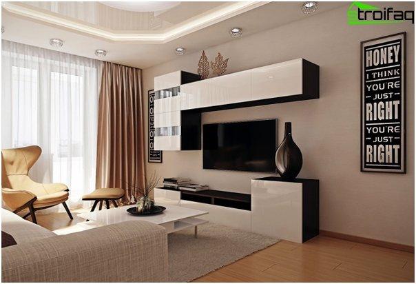 Design af lejligheden 2016 (stue) - 1