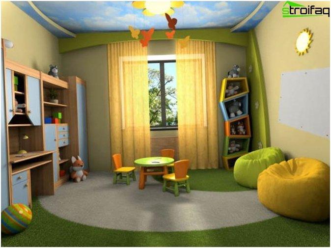 การออกแบบเพดานห้องเด็ก