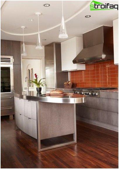 การออกแบบเพดานห้องครัว