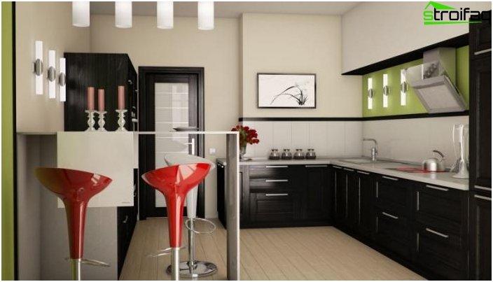 Art Nouveau hjørne køkken