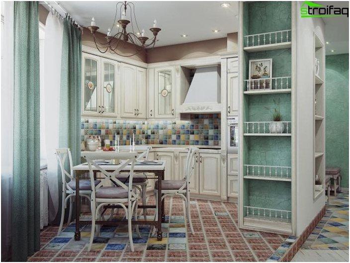 Provence hjørne køkken